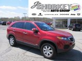 2011 Spicy Red Kia Sorento LX AWD #48328685