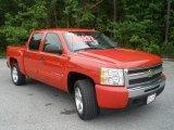 2009 Victory Red Chevrolet Silverado 1500 LT Crew Cab #48329024