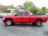2009 Victory Red Chevrolet Silverado 1500 LTZ Extended Cab 4x4 #48328862