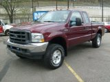 2004 Dark Toreador Red Metallic Ford F250 Super Duty XL SuperCab 4x4 #48387626