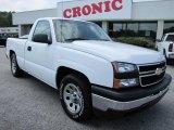 2006 Summit White Chevrolet Silverado 1500 Work Truck Regular Cab #48387478