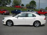 2011 White Platinum Tri-Coat Ford Fusion Sport #48387361