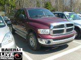 2003 Dark Garnet Red Pearl Dodge Ram 1500 SLT Quad Cab 4x4 #48387242