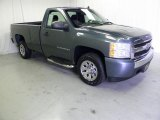 2008 Blue Granite Metallic Chevrolet Silverado 1500 LS Regular Cab #48387686