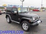 2010 Black Jeep Wrangler Sahara 4x4 #48387865