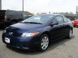 2007 Royal Blue Pearl Honda Civic LX Coupe #48387726