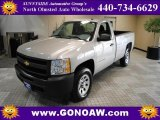 2009 Silver Birch Metallic Chevrolet Silverado 1500 Regular Cab 4x4 #48430953