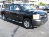 2008 Black Chevrolet Silverado 1500 Work Truck Extended Cab #48431248