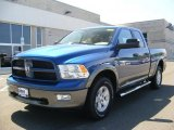 2011 Deep Water Blue Pearl Dodge Ram 1500 SLT Outdoorsman Quad Cab 4x4 #48456671