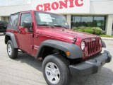 2011 Deep Cherry Red Crystal Pearl Jeep Wrangler Sport 4x4 #48460685