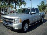 2011 Sheer Silver Metallic Chevrolet Silverado 1500 LT Crew Cab #48460546