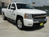 2009 Summit White Chevrolet Silverado 1500 LT Texas Edition Extended Cab #48460728