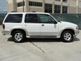 Oxford White Ford Explorer in 2000