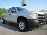 2011 Sheer Silver Metallic Chevrolet Silverado 1500 Extended Cab #48460742