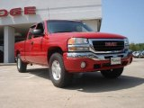 2005 Fire Red GMC Sierra 1500 SLE Extended Cab 4x4 #48502763