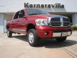 2007 Inferno Red Crystal Pearl Dodge Ram 1500 Laramie Mega Cab 4x4 #48502769