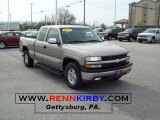 2002 Light Pewter Metallic Chevrolet Silverado 1500 LT Extended Cab 4x4 #48502725
