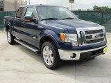 2011 Dark Blue Pearl Metallic Ford F150 Lariat SuperCrew 4x4 #48520615