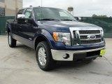 2011 Dark Blue Pearl Metallic Ford F150 Lariat SuperCrew 4x4 #48520625