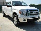 2011 White Platinum Metallic Tri-Coat Ford F150 Lariat SuperCrew 4x4 #48520626