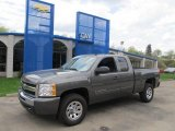 2011 Steel Green Metallic Chevrolet Silverado 1500 LS Extended Cab 4x4 #48520376