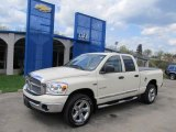 2008 Cool Vanilla White Dodge Ram 1500 Big Horn Edition Quad Cab 4x4 #48520385
