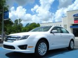 2011 White Platinum Tri-Coat Ford Fusion Hybrid #48520389
