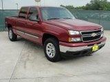 2007 Sport Red Metallic Chevrolet Silverado 1500 Classic LS Crew Cab 4x4 #48520652