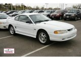 Crystal White Ford Mustang in 1996