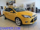 2012 Yellow Blaze Tricoat Metallic Ford Focus Titanium Sedan #48520145