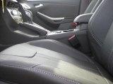 2012 Ford Focus SEL Sedan Charcoal Black Leather Interior