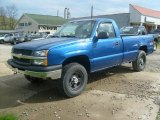 2004 Arrival Blue Metallic Chevrolet Silverado 1500 Regular Cab 4x4 #48520584