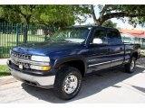 2002 Indigo Blue Metallic Chevrolet Silverado 1500 LS Crew Cab 4x4 #48520585