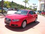2008 Brilliant Red Audi A4 2.0T S-Line Sedan #48520311