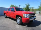 2009 Victory Red Chevrolet Silverado 1500 LT Crew Cab #48581604