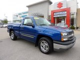 2004 Arrival Blue Metallic Chevrolet Silverado 1500 Regular Cab #48581359