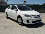 2011 Super White Toyota Corolla LE #48581384