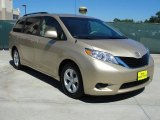 2011 Sandy Beach Metallic Toyota Sienna LE #48581386