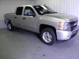 2011 Sheer Silver Metallic Chevrolet Silverado 1500 LT Crew Cab 4x4 #48520994