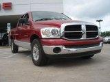 2007 Inferno Red Crystal Pearl Dodge Ram 1500 SLT Quad Cab #48521040