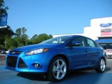 2012 Blue Candy Metallic Ford Focus Titanium Sedan #48581250