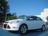 2012 White Platinum Tricoat Metallic Ford Focus SEL Sedan #48581251