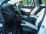 2012 Ford Focus SEL Sedan Arctic White Leather Interior