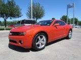 2010 Inferno Orange Metallic Chevrolet Camaro LT Coupe #48581512