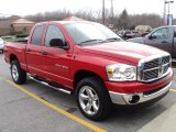 2007 Flame Red Dodge Ram 1500 Big Horn Edition Quad Cab 4x4 #48521143