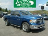 2011 Deep Water Blue Pearl Dodge Ram 1500 Big Horn Quad Cab 4x4 #48521431