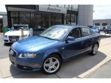2008 Ocean Blue Pearl Effect Audi A4 2.0T quattro S-Line Sedan #48663419