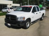 2008 Bright White Dodge Ram 1500 ST Quad Cab #48663652