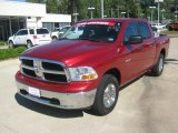 2009 Inferno Red Crystal Pearl Dodge Ram 1500 SLT Crew Cab 4x4 #48663655