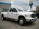 2008 Bright White Dodge Ram 3500 Big Horn Edition Quad Cab 4x4 Dually #48663228